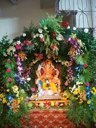 Home Ganpati Decoration Eco Friendly Ganesh Photos