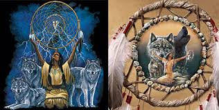 dreamcatchers and wolf