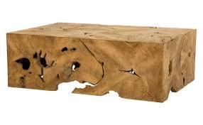 milo teak coffee table transitional rustic folk mid century