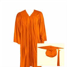 cap gown and tassel orange graduation cap gown and tassel