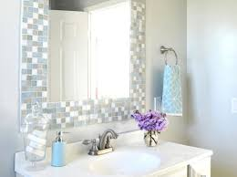 bathroom mirror frame ideas diy bathroom mirror frame ideas