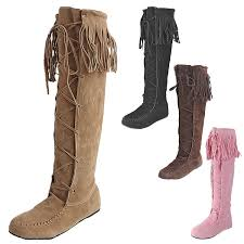 womens knee length boots uk vintage flats fashion trendy womens knee length boots uk sz 1 2 3