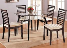 dining modern round pedestal dining table beautiful glass and