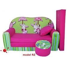 divanetto bambini divanetto transformabile in lettino verde fucsia rabbit h18 casa