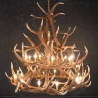 reproduction and faux antler lighting fixtures