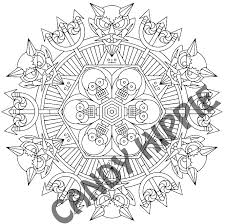 satan u0027s pawn halloween mandala candyhippie coloring pages