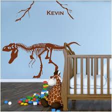 chambre dinosaure sticker dinosaure avec prénom décoration chambre garçon
