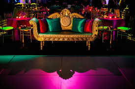 indian wedding chairs for and groom vibrantly colored indian wedding in new orleans lousiana inside