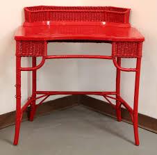 found in ithaca red wicker desk sold