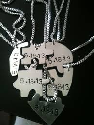 heart puzzle necklace images Sterling silver jigsaw puzzle piece necklace pendant best friend jpg