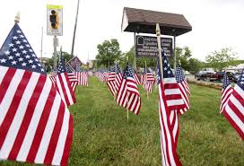 Memorial Garden Flags Memorial Day Parades Services Honor Those Who Served New Jersey