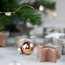 christmas star concrete table decorations by bells and whistles