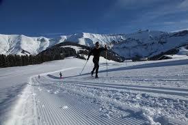 cross country skiing megève
