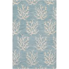 5 X 8 Area Rugs by Hand Tufted Bacelot Bay Blue Beach Inspired Wool Area Rug 5 U0027 X 8