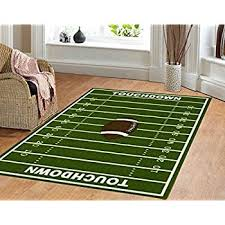 Green Kids Rug Amazon Com Dalyn Rug All Stars Football Ground Kids Rug Kitchen