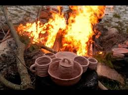 Pit Fired Pottery by Firing Pottery In A Fire Pit Youtube