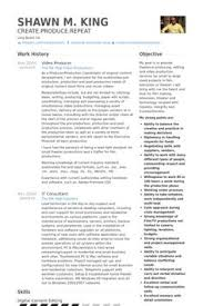 Producer Resume Examples by Video Producer Resume Example Work Pinterest Cv Examples And