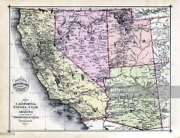 Map Of Nevada And Utah by 1879 California Nevada Utah Arizona States Map Stock Illustration