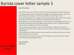 cover letter starbucks barista cover letter