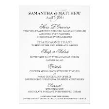 Wedding Menu Template Personalized Wedding Menus Invitations Custominvitations4u Com