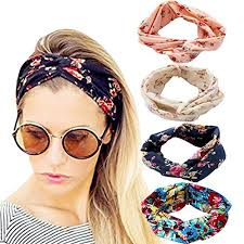 1950s hair accessories dreshow 4 pack 1950 s vintage flower headbands for women twist