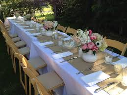 fabric for table runners wedding outdoor long garden wedding dining table with white fabric cover and