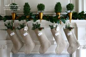 eab designs burlap christmas stockings pre holiday price