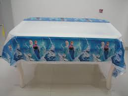 themed table cloth frozen birthday party table cloth image inspiration of cake and