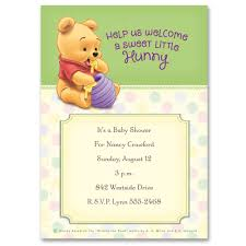 The Invitation Card Winnie The Pooh Sweet Little Hunny Baby Shower Invitation Disney