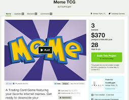 Meme Trading Cards - your kickstarter sucks a trading card game featuring your favorite