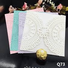 gift cards for cheap cheap invitation card flower laser cutting wed invitations
