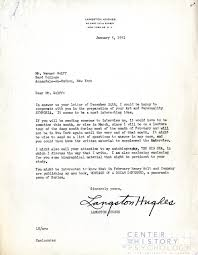 how to write a formal research paper werner wolff papers open for research cummings center blog a letter from langston hughes to wolff 1951 box m4869 folder 4
