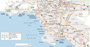 Expo Line Santa Monica Map Large Los Angeles Maps For Free Download And Print High