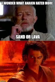 Anakin Meme - reliving the past star wars memes jokes pinterest star