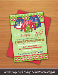 digital ugly sweater christmas party invitation with voting