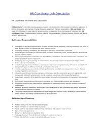 Manager Job Description Resume by Human Resources Manager Job Description Resume Virtren Com