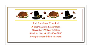 free printable thanksgiving invitations for