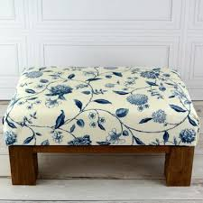 Floral Ottoman Small Ottomans Miss Hare Boutique