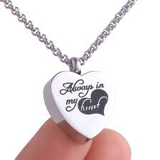 memorial necklace for ashes 316l stainless steel memorial cremation pendant necklace ashes