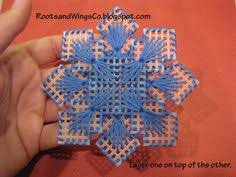 snowflakes free plastic canvas pattern from http www