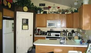 ideas for top of kitchen cabinets decorating ideas for above kitchen cabinets top of
