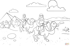 abram u0026 sarai leaving egypt coloring page free printable