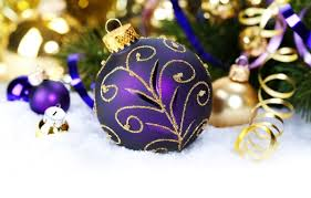 Purple Gold Christmas Decorations Purple Christmas Time For The Holidays