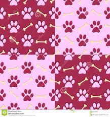 pink dog paw wallpaper