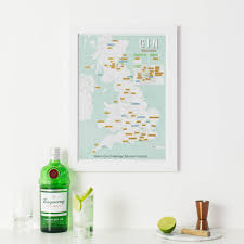 Scratch Off Map Usa by Personalised Scratch Off Uk Gin Distilleries Print By Maps