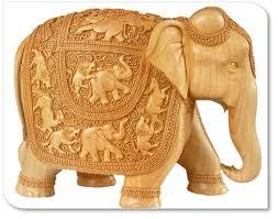 krishna handicrafts wooden elephant statues chess god
