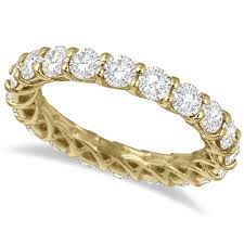 luxury engagement rings luxury diamond eternity band anniversary ring 14k yellow gold 3 00ct