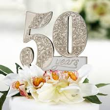 50th anniversary favors 50th anniversary cake topper wedding cake toppers wedding