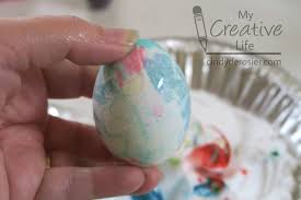 Easter Egg Decorating Using Shaving Cream by Cindy Derosier My Creative Life Dyeing Easter Eggs With Shaving