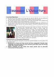 toussaint l u0027ouverture facts u0026 information worksheet ks3 resource